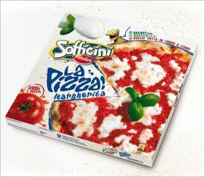 جعبه پیتزا مربعی یک تکه